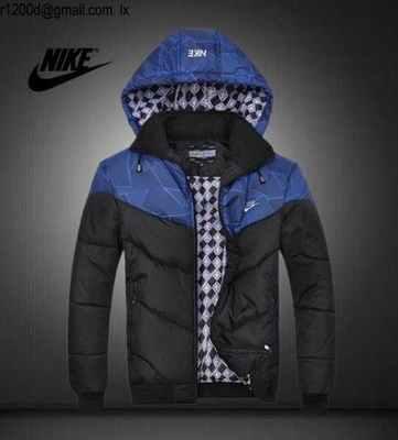 Nike Homme Travail Bleu Zf11af Coton Capuche Doudoune Veste De If76gvYby